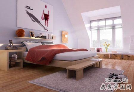 充滿智慧的閣樓裝修變身靚麗臥室