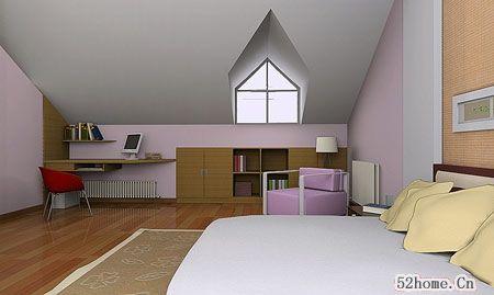 充满智慧的阁楼装修变身靓丽卧室空间